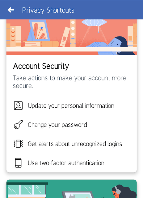 account security tab facebook
