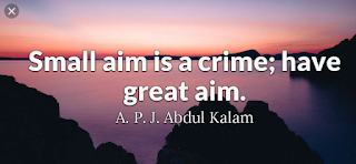 """Small aim is a crime."""