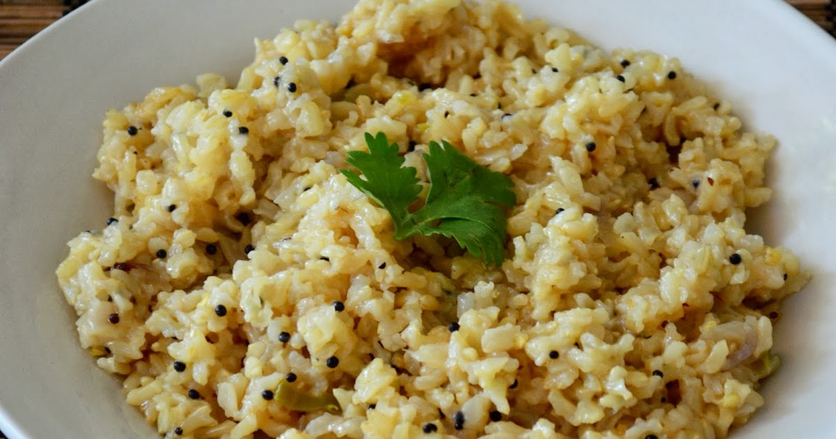 Paru's Kitchen: Brown Rice Pilaf - How to Cook Brown Rice ...