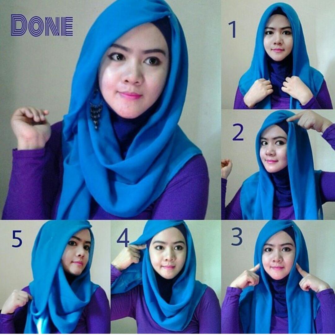 Tutorial Hijab Segi Empat Yang Simple Untuk Remaja Tutorial Hijab