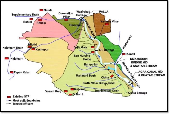 Ganga River Map in Hindi