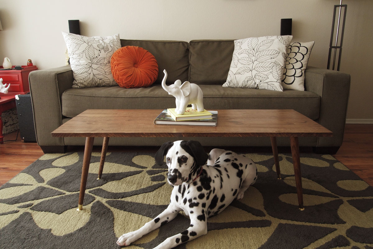 Diy Mid Century Modern Coffee Table A Pair Of Pears