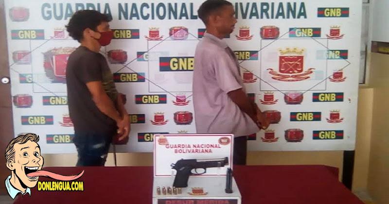 Detenidos con una 9 milímetros en El Vigía estaban listos para asaltar