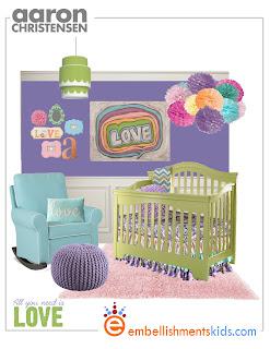 Embellishments Kids: All You Need is Love - Girl Nursery ...