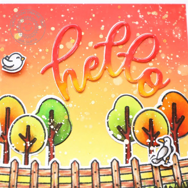 Sunny Studio Stamps: Little Buckaroo Spring Scenes Farm Fresh Fall Themed Card by Isha Gupta