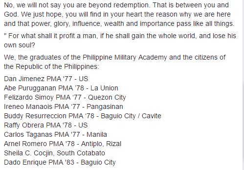 230 PMA Alumni Condemns Trillanes For His Disrepectful Conduct During The Senate Hearing!