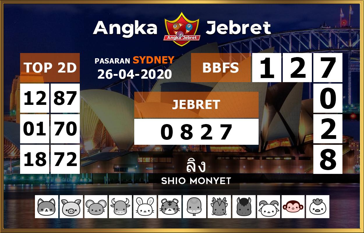 Prediksi Sidney 26 April 2020 - Angka Jebret Sidney