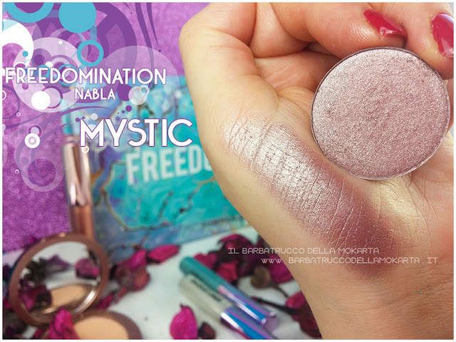 Mystic swatches nabla cosmetics freedomination collection summer eyeshadow