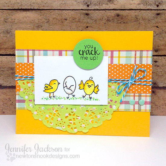 Spring Chicks Card by Jennifer Jackson | Hello Spring Stamp set by Newton's Nook Designs #newtonsnook