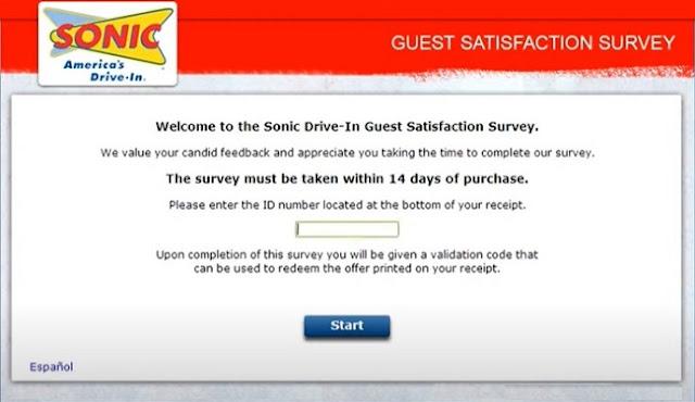 www.talktosonic.com survey code