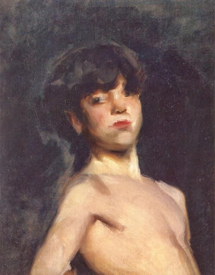 Fucked the naked boy painting slut cum whore