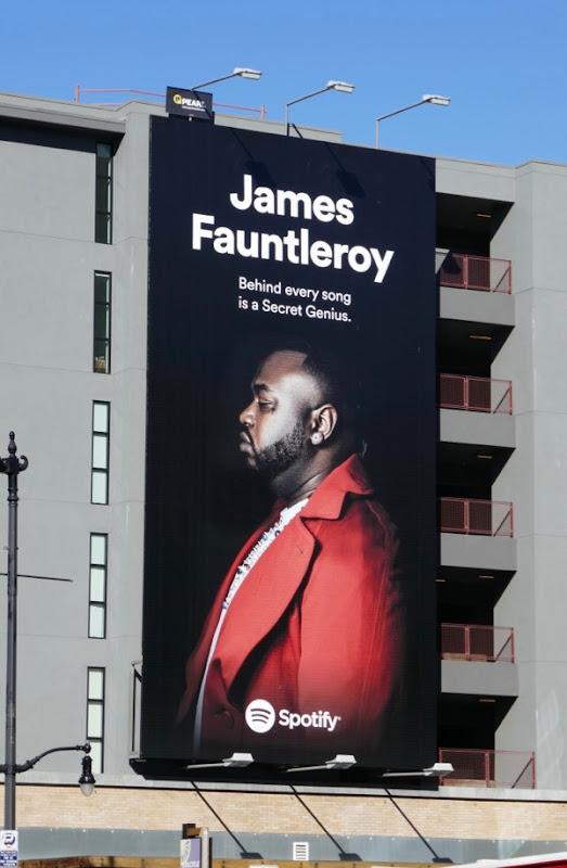 James Fauntleroy Spotify billboard