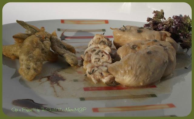 Fotografia del piatto Bocconcini di pollo mediterranei alla salvia