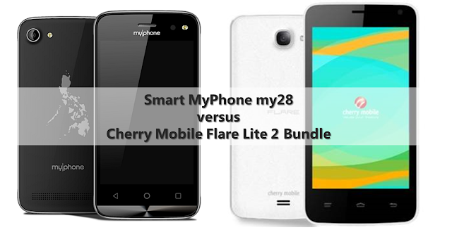 Smart MyPhone my28 Bundle versus Cherry Mobile Flare Lite 2 Bundle