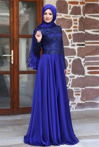 gaun dress pesta muslim