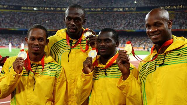 O jamaicano Usain Bolt foi prejudicado pelo colega de equipe de revezamento Nesta Carte, flagrado no teste antidoping
