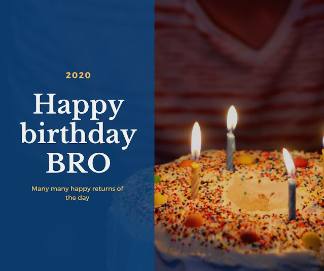 Happy Birthday Images for Brother with cake