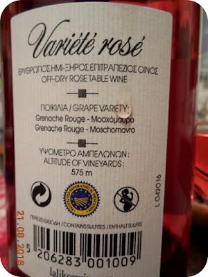 variété rosé off-dry