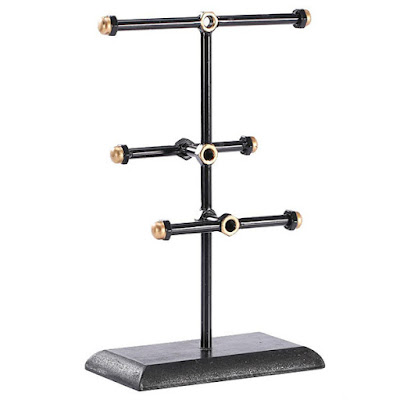Nile Corp Wholesale #COP3637 Metal Triple T-Bar Jewelry Display and Organizer Stand