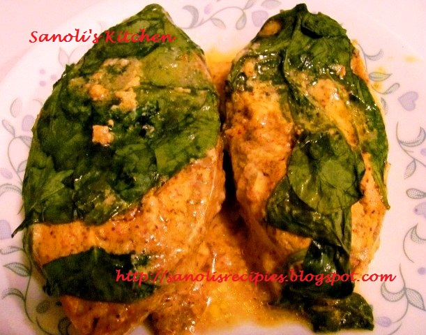 Baked spinach fish