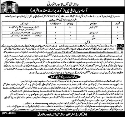 Walled City of Lahore Authority Jobs 2019 By NTS