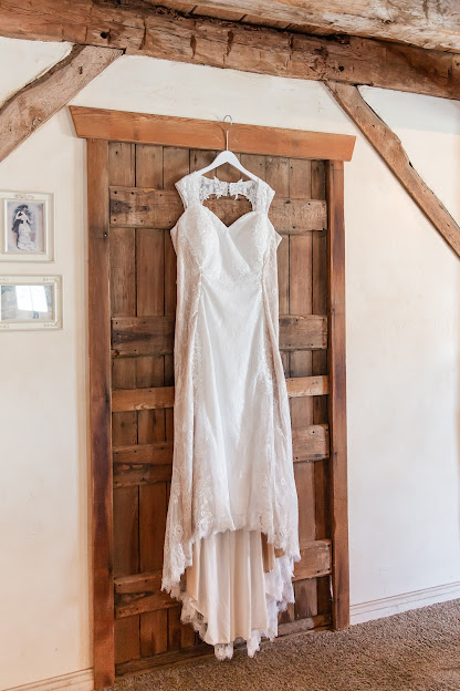 Wedding dress hanging at Shenandoah Mill