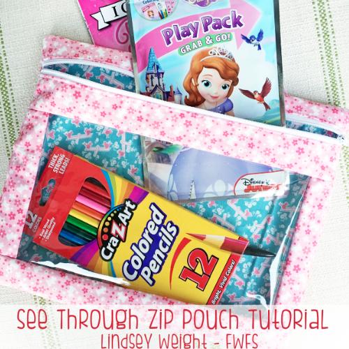 See Through Zip Pouch Tutorial