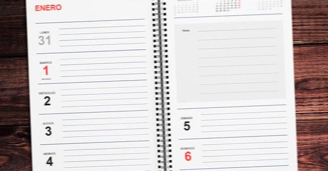 Descargar el mejor planificador semanal 2019 para imprimir