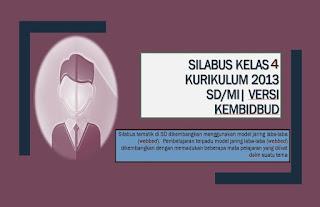Download Silabus SD/MI K13 Kelas 4 Tematik Versi Kemdikbud