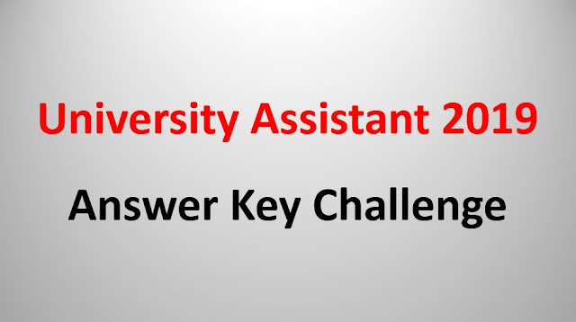 University Assistant Answer Key Challenge