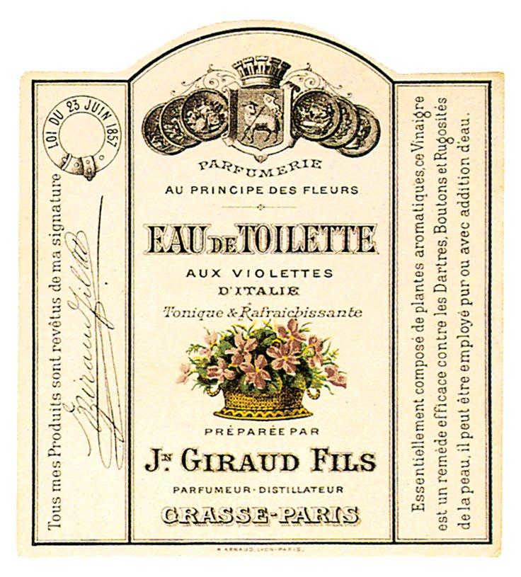 Vintage Printable French Perfume Label