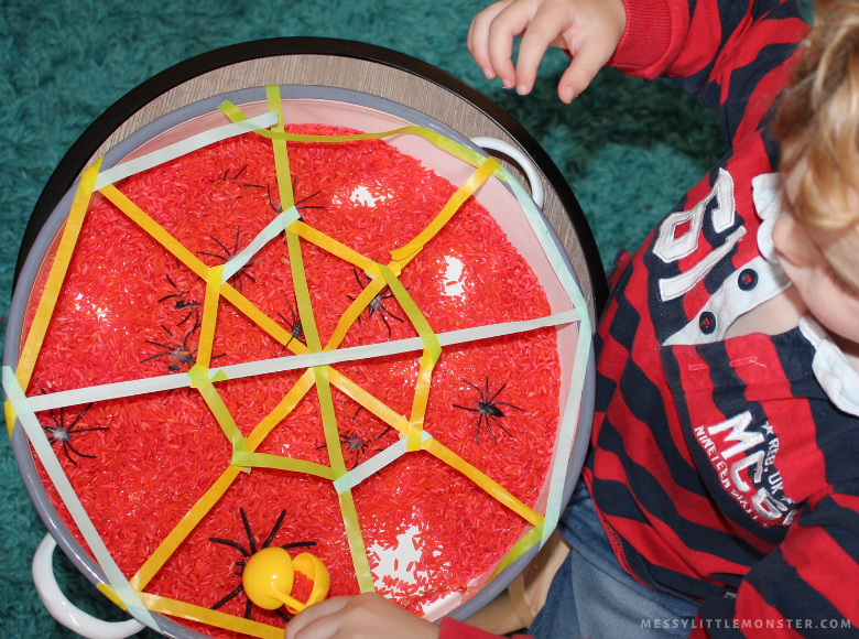 rescue the spiders counting activity