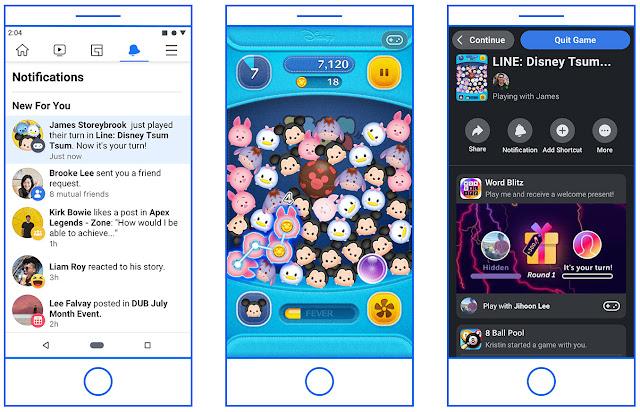 يقدم الفيسبوك ميزات جديدة للاكتشاف والمشاركة للألعاب الفورية