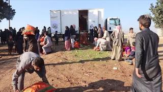 بلدية تركية توزع مساعدات غذائية على 500 عائلة سورية