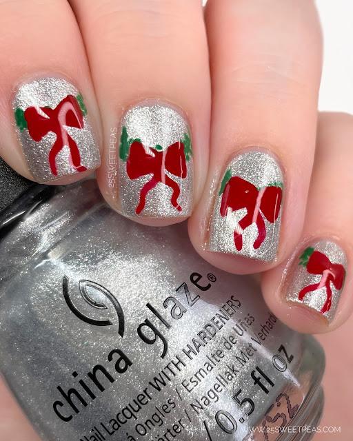 Christmas Nail Art - 25 Sweetpeas