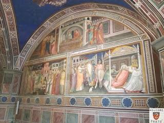Immagine degli affreschi all'interno della Cappella Migliorati