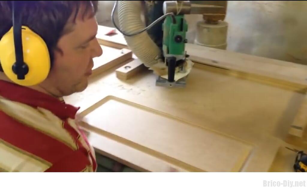 Como hacer moldura en tablero de mdf para puertas de muebles de cocina  Web del Bricolaje Diseo Diy