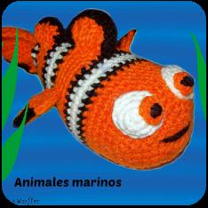 Animales marinos amigurumi