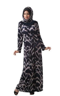 Model Gamis Batik Pesta modern