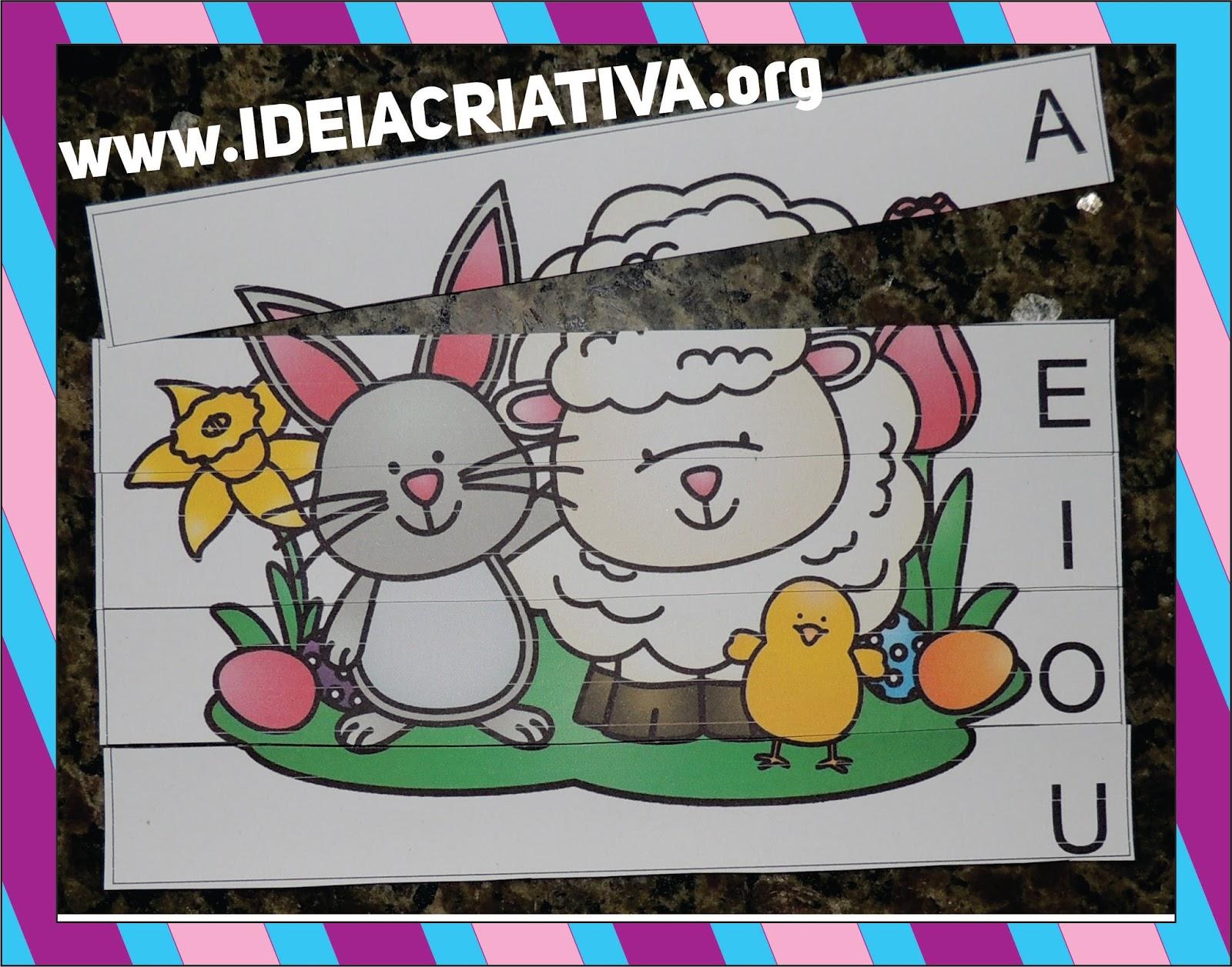 Muitas vezes Jogos Pedagógicos Páscoa para Educação Infantil | Ideia Criativa  DF49