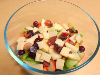 Apple Cheddar Grape Salad from Hungry Gator Gal