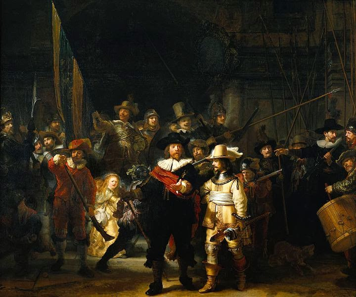 """man with black hat: FAMW: Rembrandt Flashmob """"The Night Watch"""""""