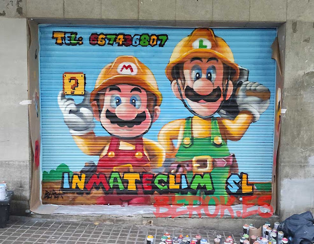 graffiti Mario MAker Luigi Bros