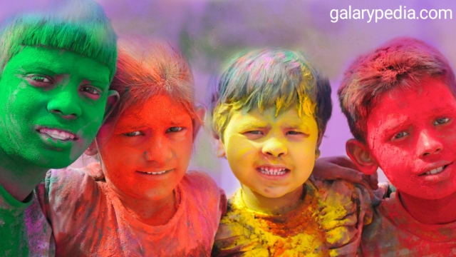 Children Holi images in hd