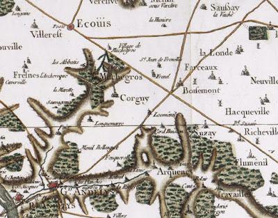 Carte générale de la France. [Rouen]. N°25. Feuille 8e / [établie sous la direction de César-François Cassini de Thury] 1756 - 1815 (c) BnF