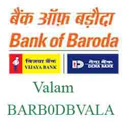 New IFSC Code Dena Bank of Baroda Valam BARB0DBVALA
