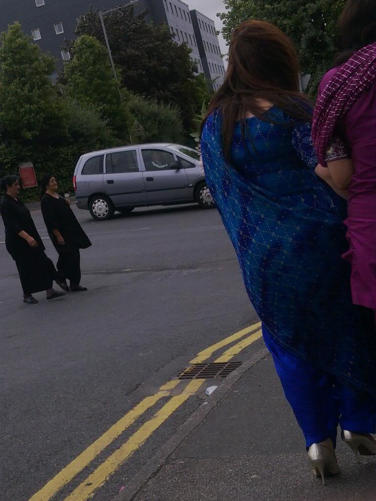 Hot Indian Desi Girls Walking On Road Captured By A Hidden -9390
