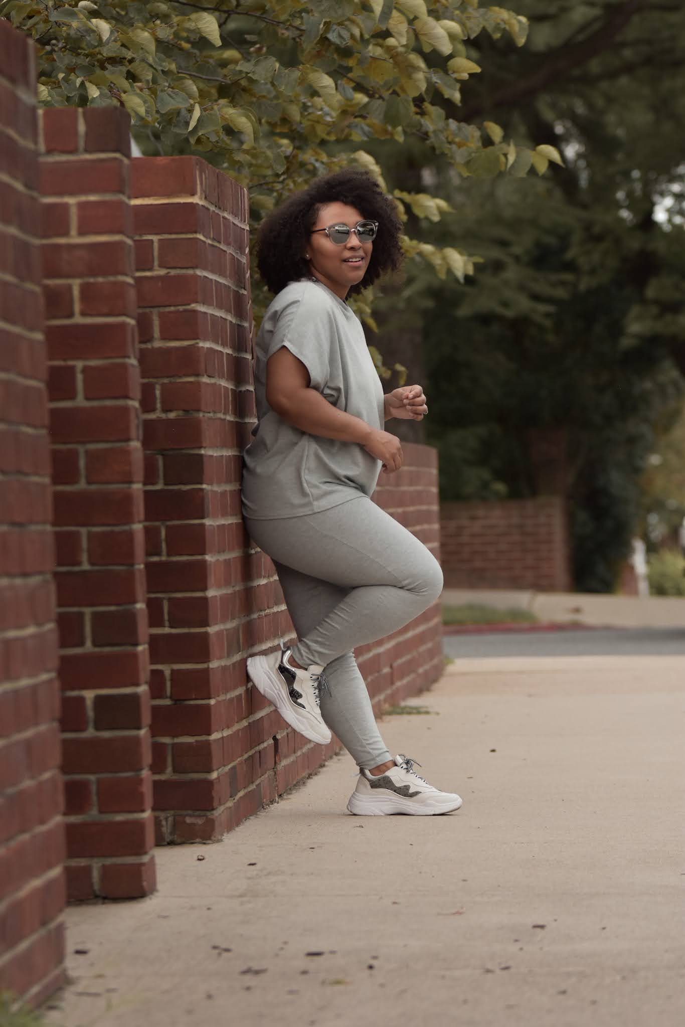 A Monochromatic Jogger Outfit