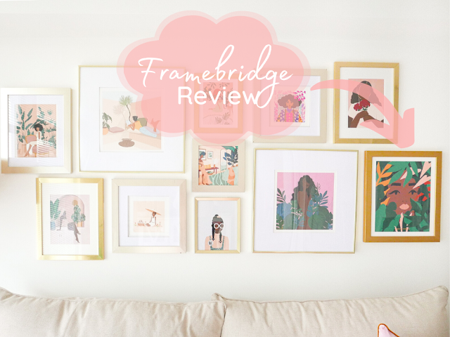Image of gallery wall with caption Framebridge Review