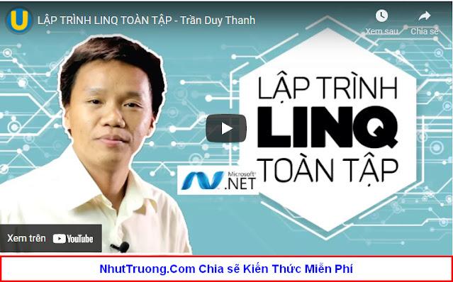 Lập trình LinQ toàn tập Download miễn phí